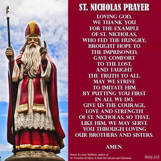 Charming St. Nicholas Prayer