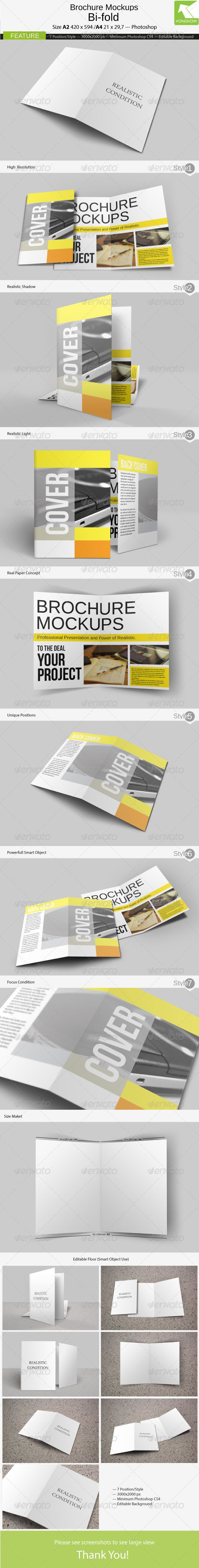 """Brochure Mockups 4 Pages  #GraphicRiver        Brochure Mockups 4 Pages for paper size A4 or A2 for both, it is very easy to edit, you just need to change some of the """"smart object"""" to the overall position / style … Brochure Mockups 4 Pages Feature:   To size A4 or A2 (both)  A """"smart object"""" for every position  Minimum work Photoshop CS4  7 different positions  3000×2000  Editable Background   I hope you like this item… thank you…                              Created: 8March13…"""