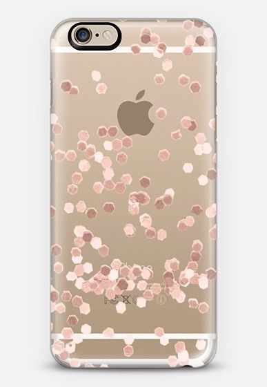 LIMITED EDITION ROSE GOLD FAUX GLITTER TRANSPARENT by Monika Strigel for iPhone 6 iPhone 6 case by Monika Strigel | Casetify