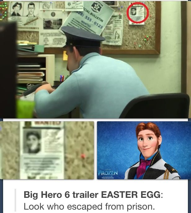 Hans cameo in Big Hero 6 - Frozen<< what the? No. Hans! Stay in prison! Dont escape into another Disney movie!