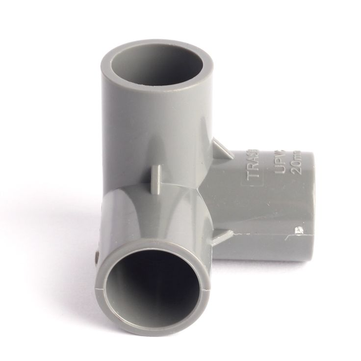 Inner Diameter 20mm UPVC Solid Equal Tee Connector Three Dimensional Joint High Quality Garden Irrigation Water Pipe Repair Tool