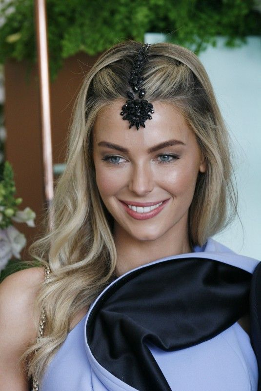JENNIFER HAWKINS at the Myer Marquee at the Melbourne Cup