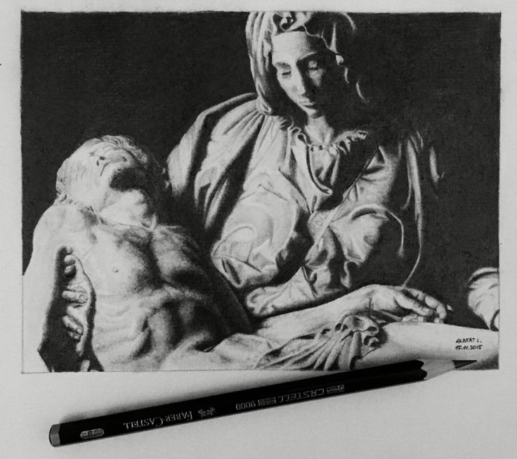 Drawing of Michelangelo's Pieta
