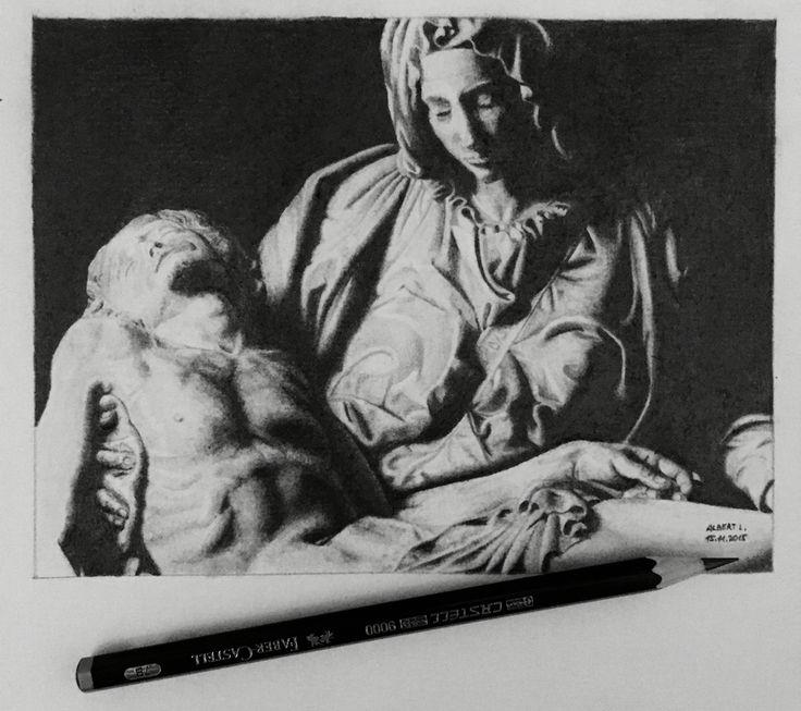 Drawing of Michelangelo's Pieta