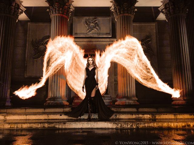 """CAN YOU SHOUT """"TOTALLY AWESOME"""" Read how VonWong did this incredible photoshoot.     01_Huawei_P8_FireAngel by VonWong"""