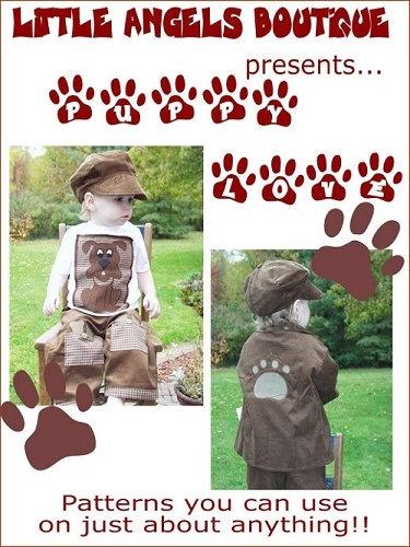 Puppy Dog Applique Pattern Ebook PDF DIY by littleangelsboutique, $8.00