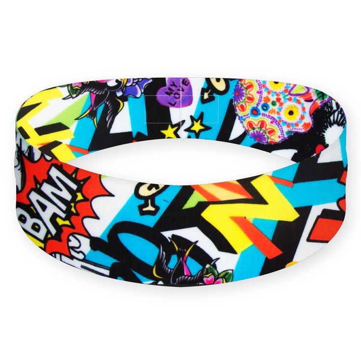 For all the superhero fans out there, the Comic Book headband will hit the spot like BAM! Along with the fun pattern, it features the durability of Batman's armor and the flexible fit of the Spidey suit. That being said, we don't recommend you fight crime in this headband—unless you consider missing an exercise day a crime.