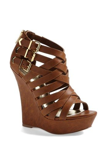 Kendall & Kylie for Madden Girl 'Fortune' Wedge Sandal available at #Nordstrom OBSESSED WITH THESE. Can't wait for them to get into my closet. Will look so super good with shorts, dresses, skirts, and jeans, and I adore the height!!