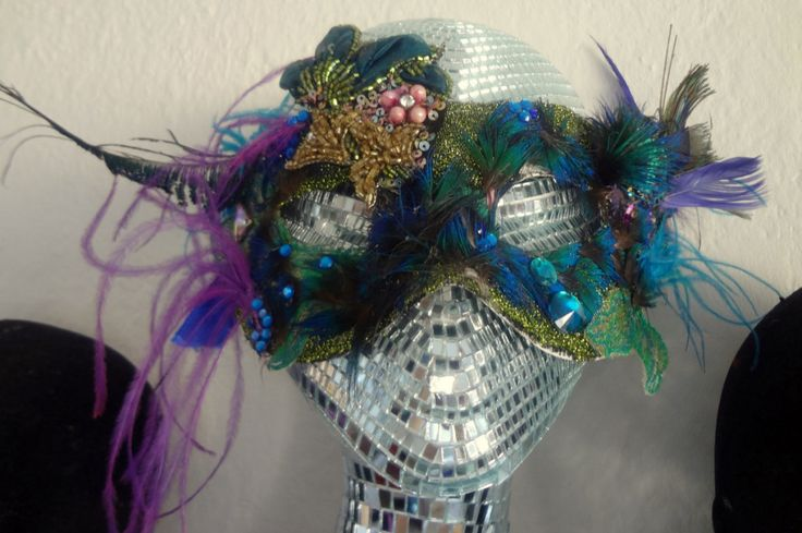 Carrie B Peacock Mask