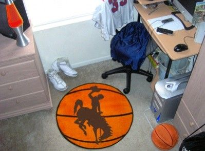 Wyoming Cowboys Basketball Shaped Area Rug Welcome/Bath Mat