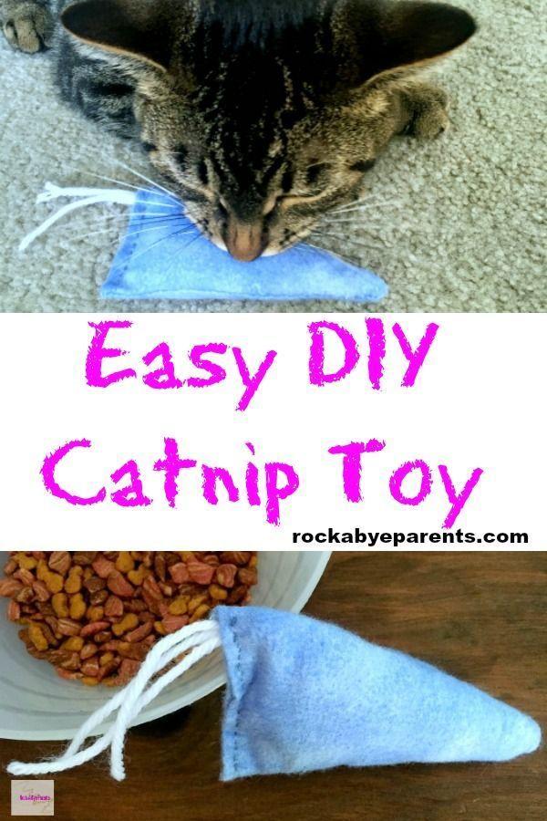 Easy Diy Catnip Toy Diy Catnip Toys Catnip Toys Cat Allergies