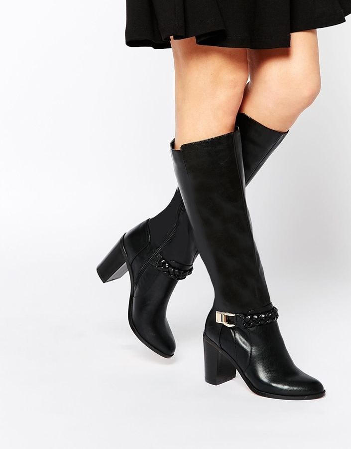 Buy Women Shoes / Asos Chain Mail Knee High Boots
