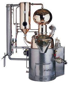 Müller GmbH, Pot Stills Distillery Units – AROMA I, Pot Stills Distillery Units, Alembics Potstill, Specialties Distilleries, Specialty Distillery, ballshaped Helmet, Column, Bell plates, Waterbath, Exhaust gas Heat exchanger, Water-jet driving equipment, Boil-over gadget, Agitator