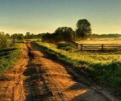 take a back road.