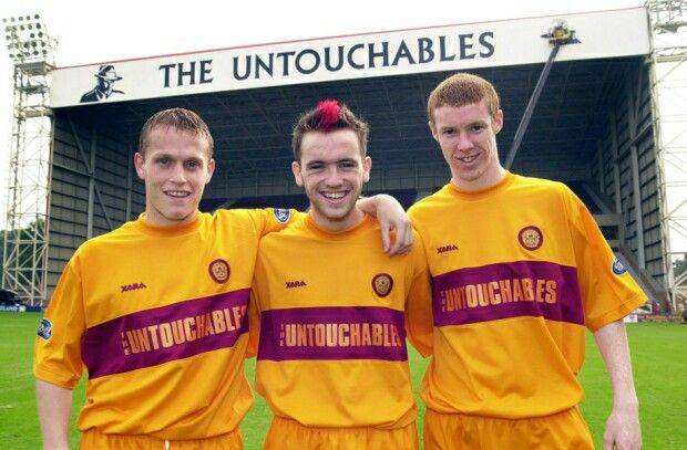 Stevie Hammell, James McFadden and Stephen Pearson celebrate their Scotland…