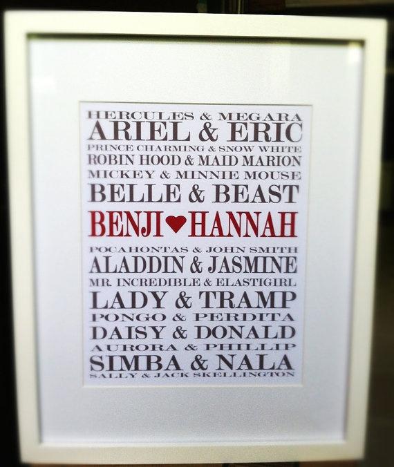 SO cute! Disney Love- personalized wall decor! @Korina Grigsby Grigsby Grigsby Biemesderfer
