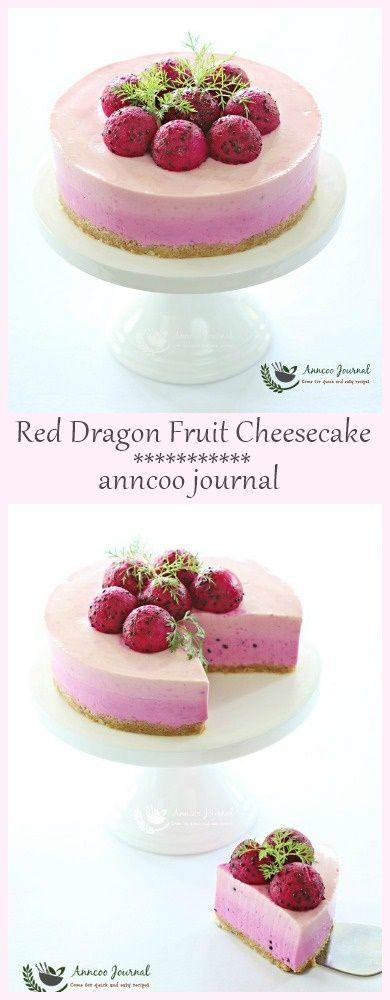 Red Dragon Fruit Cheesecake