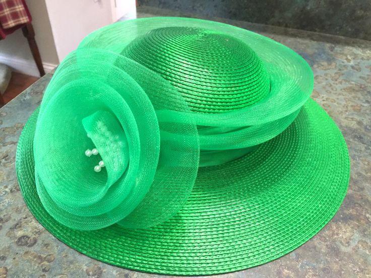 Vintage Deborah New York Vintage Bright Green Hat 1960 Era by LeftoverStuff on Etsy https://www.etsy.com/listing/279885354/vintage-deborah-new-york-vintage-bright