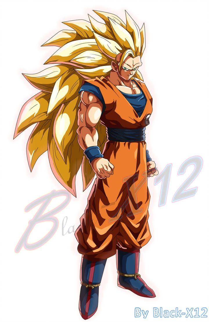 Goku Ssj3 Fighterz Style Fan Made V2 By Black X12 Dragon Ball Super Manga Dragon Ball Art Dragon Ball Artwork