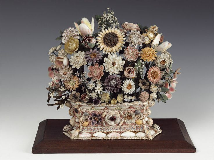 """Antique """"Shellwork Vase"""". Made in 1660-1670. In a British Museum Collection."""