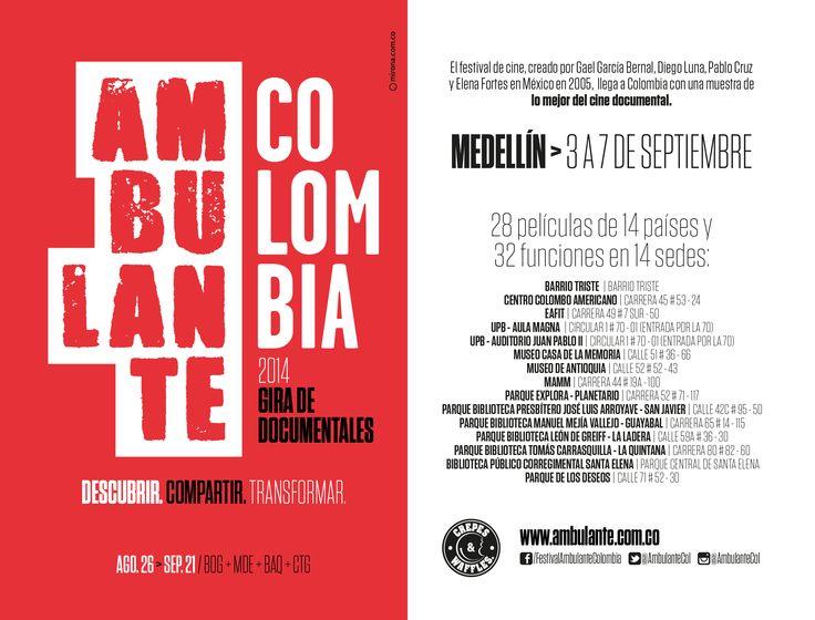 Ambulante Col 2014 en Medellín Diseño: Mirona.com.co