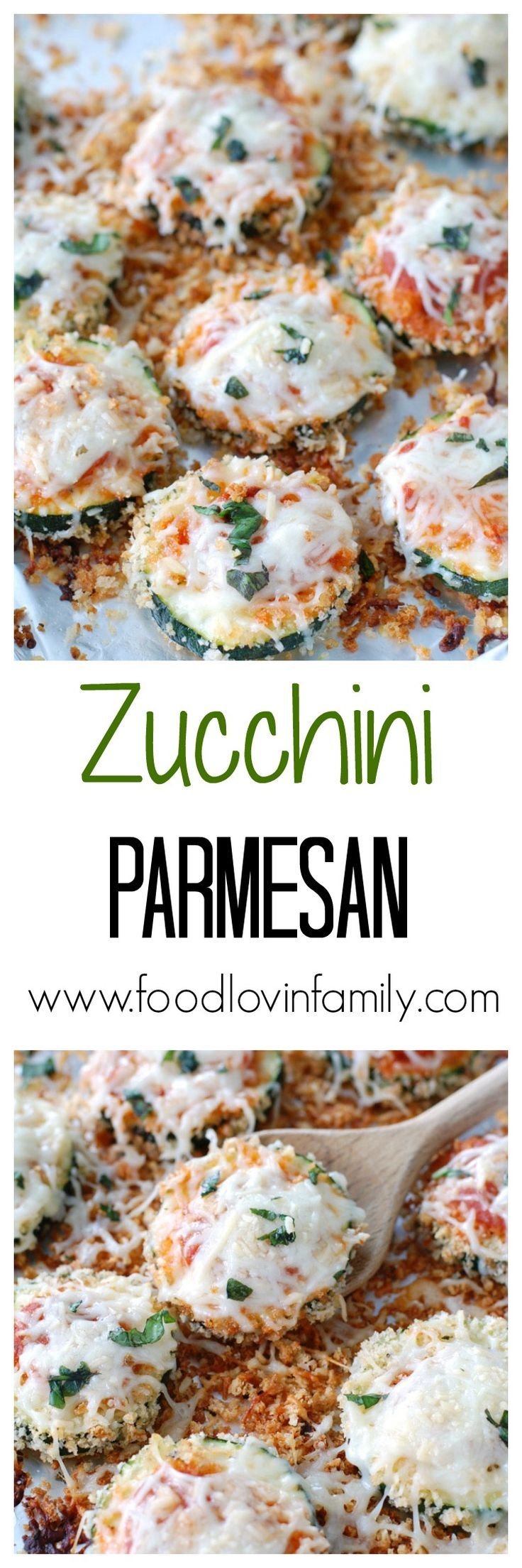 ZUCCHINI PARMESAN IS A GREAT WAY TO USE LEFTOVER ZUCCHINIS AND MAKES A PERFECT MEATLESS MONDAY MEAL. | http://www.foodlovinfamily.com/zucchini-parmesan/
