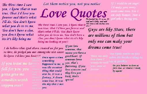 Many love quotes :)