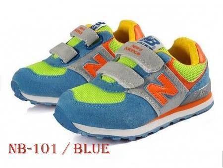 Sepatu New Balance NB Kids NB-101 BLUE Size 31-36 IMPORT [Kids Branded Sport Shoes/Sneakers]