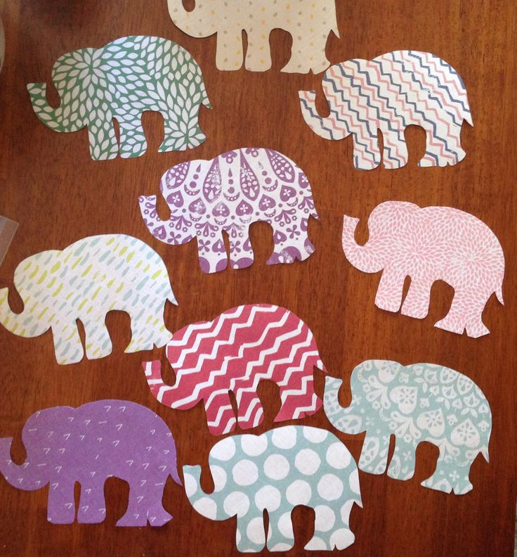 Elephant Decor Ideas: Simple Elephant Shaped Door Decorations On Whatever Paper