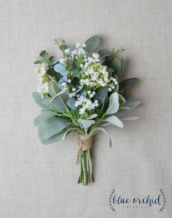 Bridesmaid Bouquet Wedding Flowers Silk Bridesmaid Bouquet Etsy