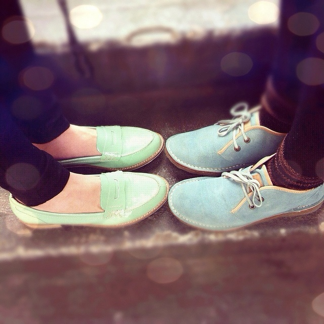 mint green loafers! ♥