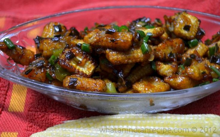 Crispy Chilli Baby corn is a favourite appetizer, especially for the vegetarians. Easy to prepare, and healthy too.Makes a great snack for kids too, nutritious, crunchy and tasty for them. Ingredie...
