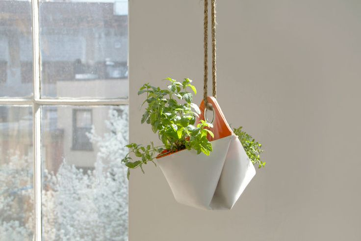 Add some life to your kitchen with innovative kitchen products like this hanging herb planter. Visit: http://bit.ly/2kkvepo