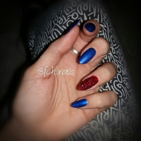 Blue metal nails