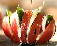 Tomato, Mozzarella and basil with a balsamic drizzle