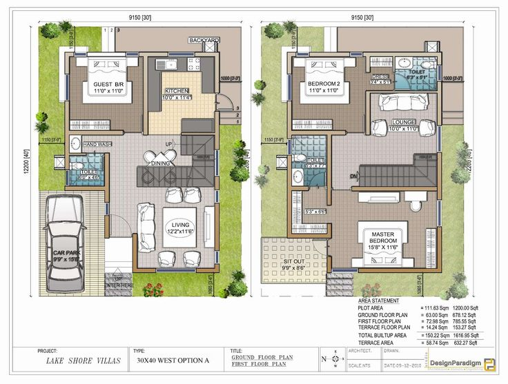 Neoteric 12 Duplex House Plans For 30x50 Site East Facing 40 X 60 West On Home