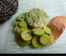 Saumon et ses courgettes à la sauce sublime