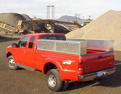 Pickup Truck; Semi Tool boxes, Cab guards, Pickup Headache Racks, bed slides, Truck Flatbeds, RV Truck Tow bodies, RV Hauler, RV Toter, Trailer and Flatbed underbody toolbox manufacturer since 1980.