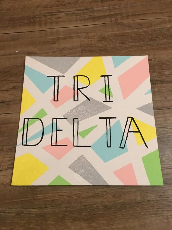 Tri delta canvas by PismoSistersForLife on Etsy