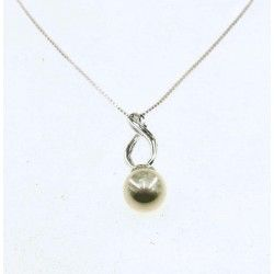 Elegant Silver Pearl Drop Pendant #silver #jewellery #modern #bride