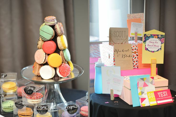 Vendor displays at The Pop-up Wedding | Yann Haute Patisserie | Creative Finch @Ali Finch | Image by RWphoto