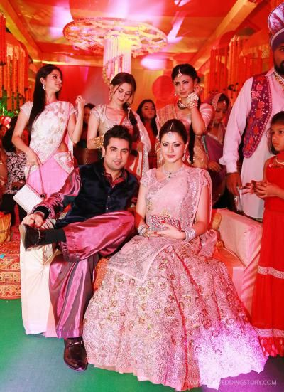 Aamna and Amit with friends