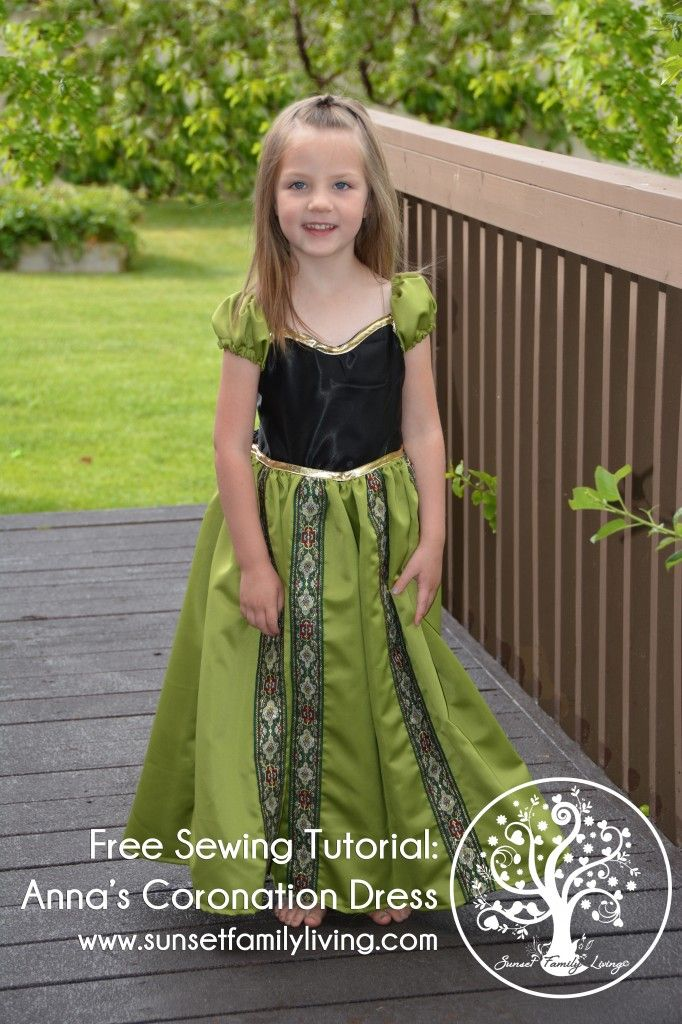 YES! This is what I needed! Birthday shopping tomorrow... free anna coronation dress tutorial