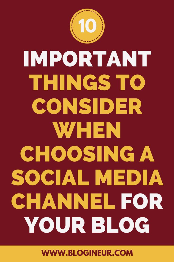 Struggling to decide on a social media channel to promote your blog? Check out this post on things to consider before choosing a social media channel to for your blog.