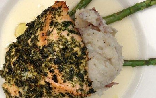 Cheesecake Factory Herb Crusted Salmon Recipe - Details, Calories, Nutrition Information | RecipeOfHealth.com
