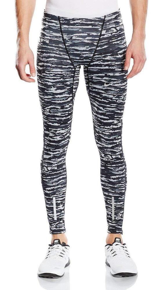 2e2a387ff7069 Nike Tech Mens Wilder Running Compression Pants Tights Grey Camo Size 2XL # Nike