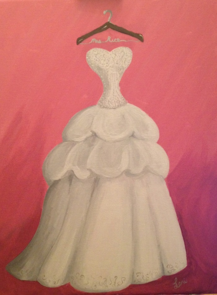 Your Wedding Dress Painted On Canvas Dream Dresses