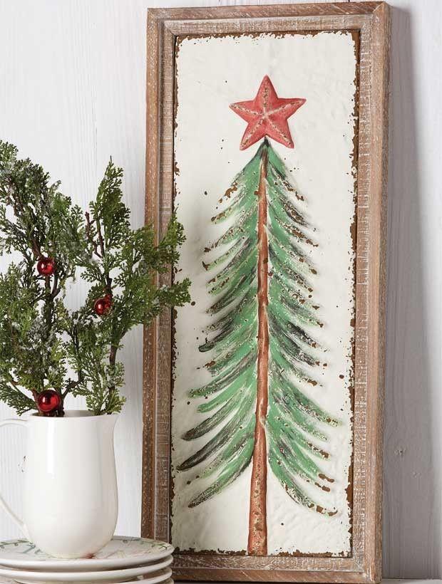 Rustic Christmas Tree Framed Wall Art Christmas Wall Art Diy Christmas Wall Art Christmas Tree Painting