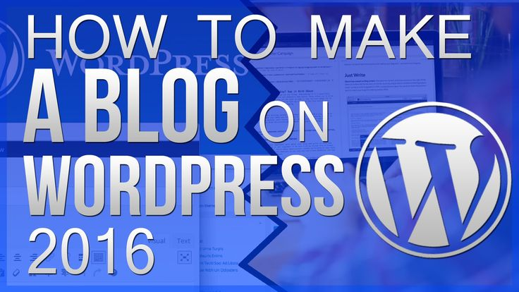how to create a blog wordpress free