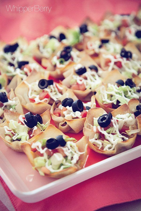 Fully Loaded Taco Bites Simple and great for finger food.
